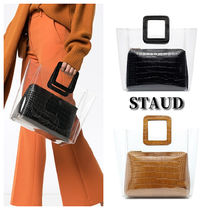 STAUD Casual Style 2WAY PVC Clothing Totes