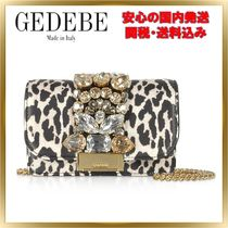 GEDEBE Leopard Patterns Chain Leather With Jewels Elegant Style