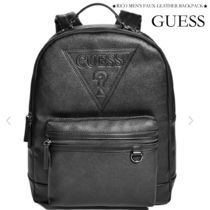 Guess Faux Fur Street Style Plain Backpacks