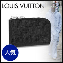 Louis Vuitton TAIGA Plain Coin Cases