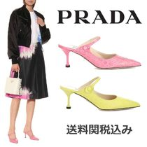 PRADA Blended Fabrics Other Animal Patterns Leather Pin Heels