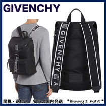 GIVENCHY Unisex Nylon A4 Backpacks