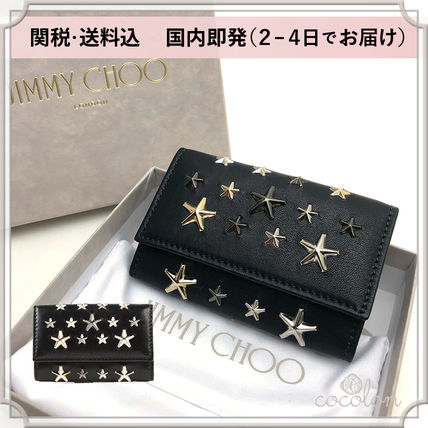 Star Unisex Lambskin Studded Bi-color Keychains & Bag Charms