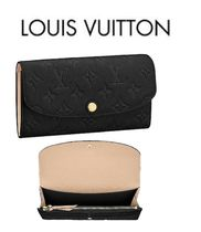 Louis Vuitton MONOGRAM Monogram Leather Long Wallets