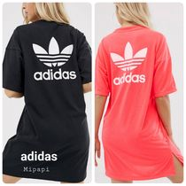 adidas Crew Neck Short Casual Style Street Style Short Sleeves
