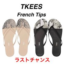 TKEES Open Toe Rubber Sole Casual Style Street Style Flip Flops