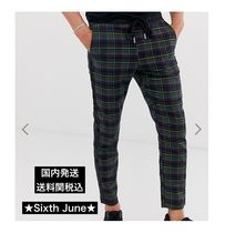 Sixth June Tapered Pants Tartan Street Style Tapered Pants