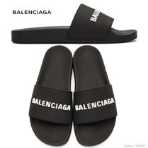 BALENCIAGA Monogram Street Style Shower Shoes Shower Sandals
