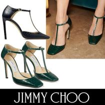 Jimmy Choo Square Toe Other Animal Patterns Leather Pin Heels