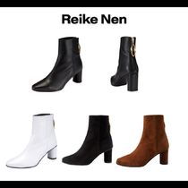 Reike Nen Suede Plain Chunky Heels Ankle & Booties Boots