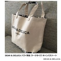 DEAN&DELUCA Flower Patterns Casual Style Unisex Canvas A4 Totes