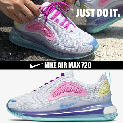 Nike AIR MAX 720 2019 20AW Platform Round Toe Casual Style Street Style Plain