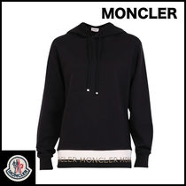 MONCLER Street Style Long Sleeves Plain Cotton Medium