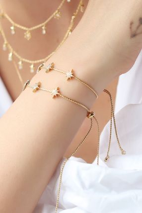 Star Casual Style Chain Brass Bracelets