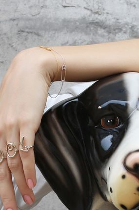 Casual Style Chain Silver Bracelets