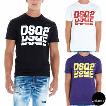 D SQUARED2 Crew Neck Street Style Cotton Short Sleeves
