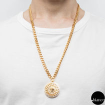 VERSACE Unisex Street Style Metal Necklaces & Chokers