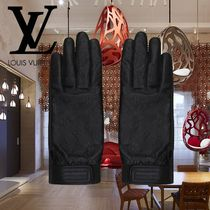 Louis Vuitton MONOGRAM Monogram Silk Gloves Gloves