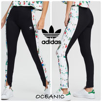 adidas Flower Patterns Casual Style Street Style Bottoms