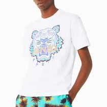 KENZO Crew Neck Cotton Short Sleeves Designers Crew Neck T-Shirts