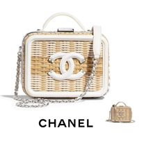 CHANEL Blended Fabrics Straw Bags