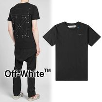 Off-White Crew Neck Pullovers Street Style Cotton Short Sleeves Logo