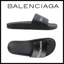 BALENCIAGA Street Style Shower Shoes Shower Sandals