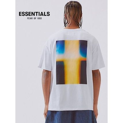 FEAR OF GOD More T-Shirts Crew Neck Unisex Street Style Cotton Short Sleeves Oversized