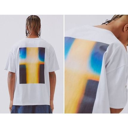 FEAR OF GOD More T-Shirts Crew Neck Unisex Street Style Cotton Short Sleeves Oversized 2