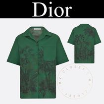 Christian Dior Tropical Patterns Casual Style Street Style Cotton Medium