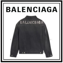 BALENCIAGA Casual Style Denim Medium Jackets