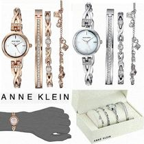 Anne Klein Metal Round Quartz Watches Elegant Style Analog Watches