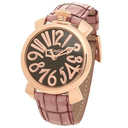 Casual Style Unisex Street Style Leather Round