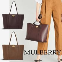 Mulberry Bayswater Unisex A4 Plain Elegant Style Totes
