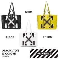 Off-White Casual Style Street Style Totes