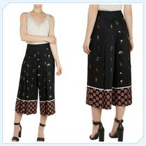 TED BAKER Flower Patterns Medium Elegant Style Culottes & Gaucho Pants