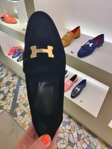 HERMES Paris [HERMES] LOAFER PARIS NEW VELOR