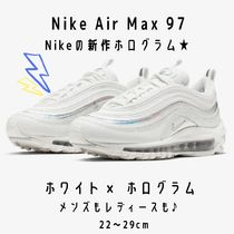 Nike AIR MAX 97 Round Toe Casual Style Unisex Street Style Plain