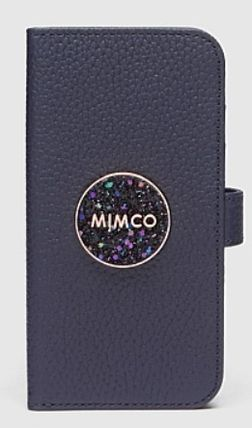 Studded Plain Leather With Jewels Glitter iPhone 8
