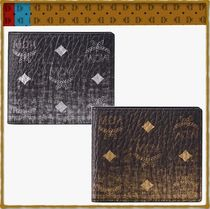 MCM Street Style Leather Folding Wallets