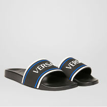 VERSACE Street Style Plain Shower Shoes PVC Clothing Logo