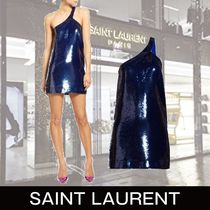 Saint Laurent Short Tight With Jewels Dresses