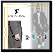 Louis Vuitton MONOGRAM Flower Patterns Silver With Jewels Rings