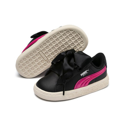 PUMA BASKET HEART 2019 20AW Blended Fabrics Street Style Kids Girl Sneakers