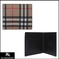 Burberry Gingham Canvas Folding Wallets
