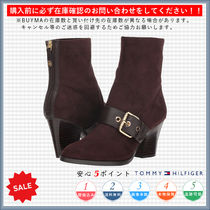 Tommy Hilfiger Round Toe Casual Style Chunky Heels High Heel Boots