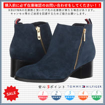 Tommy Hilfiger Round Toe Casual Style Plain Chunky Heels