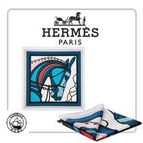HERMES Other Animal Patterns Cotton Handkerchief