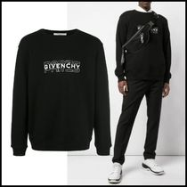 GIVENCHY Crew Neck Pullovers Long Sleeves Plain Cotton Sweatshirts
