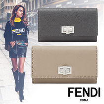 FENDI PEEKABOO Calfskin Long Wallets